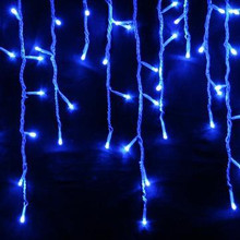 30.78M 602 LED IP44 Blue Christmas Wedding Party Icicle Lights
