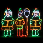 72CM High 3 LED Christmas Carollers Motif Rope Lights