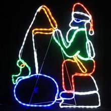 Santa Fishing Christmas  lights
