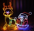 110CM LED Cute Santa Reindeer Christmas Motif Rope Lights