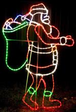 Animated 155CM LED Santa Carrying A Bag Of Gifts Christmas Motif Rope Lights (36V Safe Voltage)