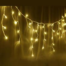 350 LED IP44 Warm White Christmas Wedding Party Icicle Lights