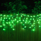 green icicle lights