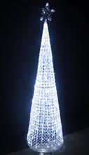 167CM 3D White Acrylic Cone Tree Christmas Lights