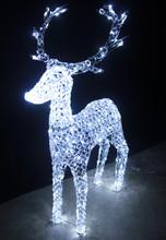 130CM 3D LED White Acrylic Beads Reindeer Christmas Lights