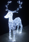 130CM 3D LED White Acrylic Beads Reindeer Christmas Lights