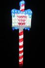 153CM 3D Acrylic LED 'SANTA STOP HERE' Sign Christmas Lights
