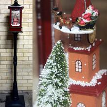 192CM Santa Reindeer Snowing Christmas Lamp Post