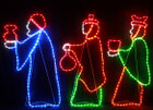 120CM High LED Three Wise Men Giving Gifts Nativity Christmas Motif Rope Lights
