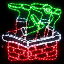 81CM LED Santa Stuck in Chimney Christmas Motif Rope Lights