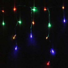 200 LED Multi Colours Christmas Icicle Lights