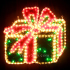 55CM Wide 50 LED Christmas Gift Box Motif Rope Lights