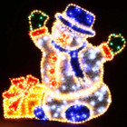 LED 120CM Snowman with Gift Box Christmas Motif Rope Lights