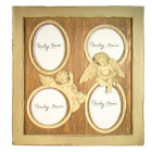 French Shabby Chic Grayish Amber2 Angels 4 Photo Wood Frame