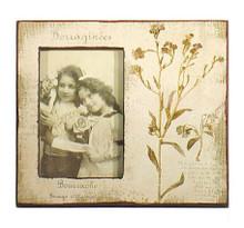 French Shabby Chic Cream Borage Branch Photo Frame