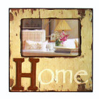 Country Shabby Chic Pale Yellow Home Photo Frame