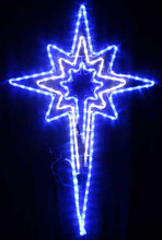 Animated 120CM LED Flashing White Blue Nativity Star Christmas Motif Rope Lights