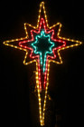 Animated 120CM LED Flashing Multi Colour Star Christmas Motif Rope Lights