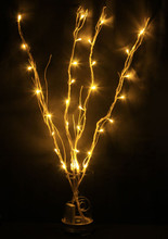 32 LED 4 Branches Warm White Battery Twig Lights For Christmas Wedding