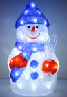 38CM 3D Acrylic Snowman with Blue Hat 48 White LED Christmas Lights