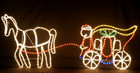 173CM Wide Santa Riding Carriage Christmas Motif Rope Lights