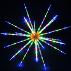 102CM 160 Multi Colour LED Hanging Blast Ice Star Ball Christmas Light Decoration