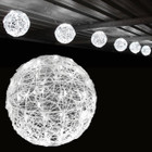 5.3M 30CM 6 Balls White LED Christmas Lights with 8 Functions