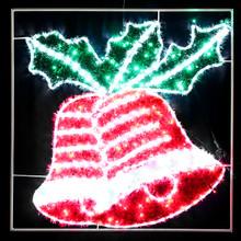 Animated 100CM 150 LED Christmas Bells Motif LED Rope Lights
