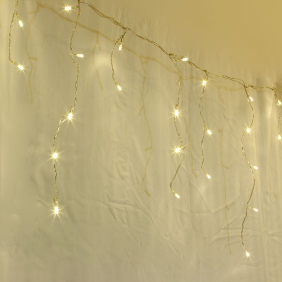 200 led warm white christmas wedding party icicle lights memory ebay. Black Bedroom Furniture Sets. Home Design Ideas