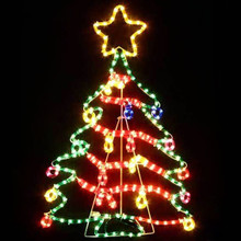 Animated 75CM LED Cute Colourful Christmas Tree Motif Rope Lights