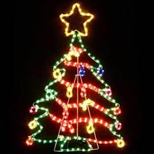 Animated 1.2M LED Cute Colourful Christmas Tree Motif Rope Lights (LED Save Energy)