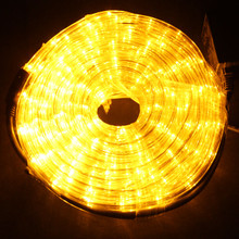 LED 18M Christmas Yellow Rope Lights with 8 Functions