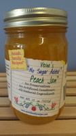 "Verna's ""No Sugar Added"" Peach Jam - 15 oz."