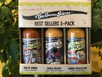 Torchbearer Son of Zombie, Garlic Reaper, Zombie Apocalypse Hot Sauces 1.7oz each.