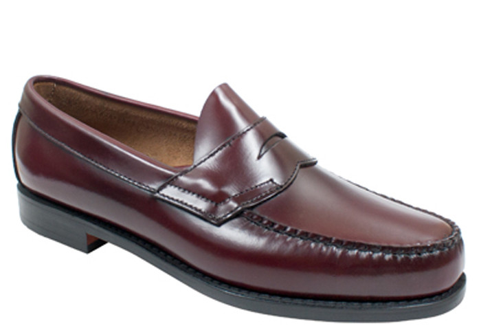 e2326c32a07 G.H. Bass   Co. Weejuns Logan Burgundy - Bennie s Shoes