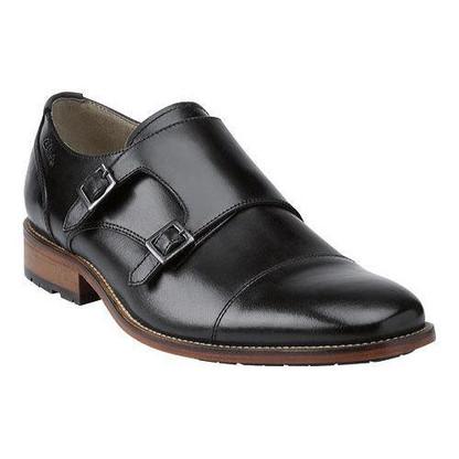2ca0546717a5b Clarks Penton Monk Black Leather - Bennie's Shoes