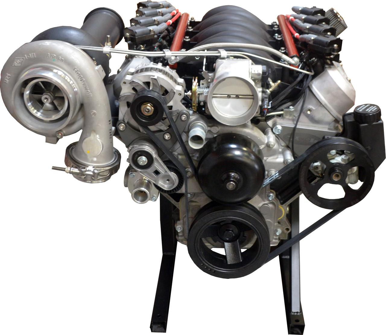 Turn Key Engine LSX 448 C I Turbo 950 HP Engine Assembly - Street