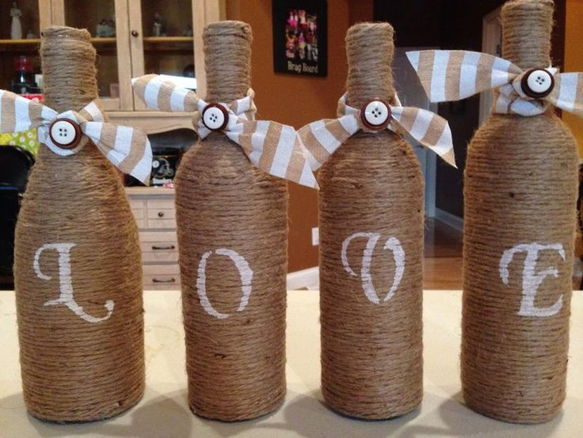 9 Easy Diy Wine Bottle Centerpieces Mywedstyle