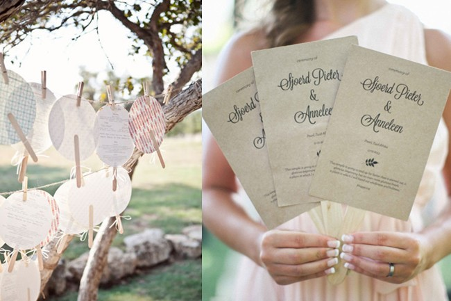Cheat Sheet How To Put Together Wedding Ceremony Programs