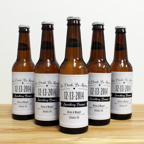 Eat, Drink, Be Married Beer Labels