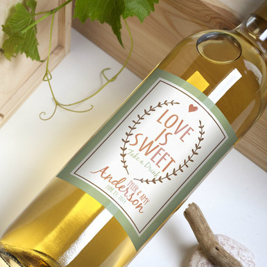 wedding wine bottles labels