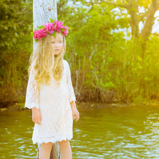 The Chloe Ivory Crème Lace Flower Girl Dress