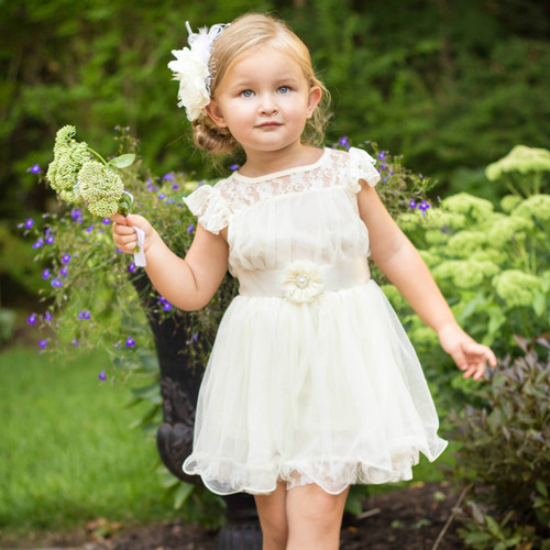 The Charlotte Flower Girl Dress in Ivory