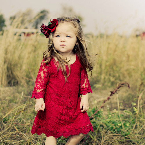 The Chloe Crimson Red Lace Dress
