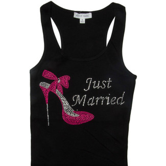 Just Married with Shoe Tank Top