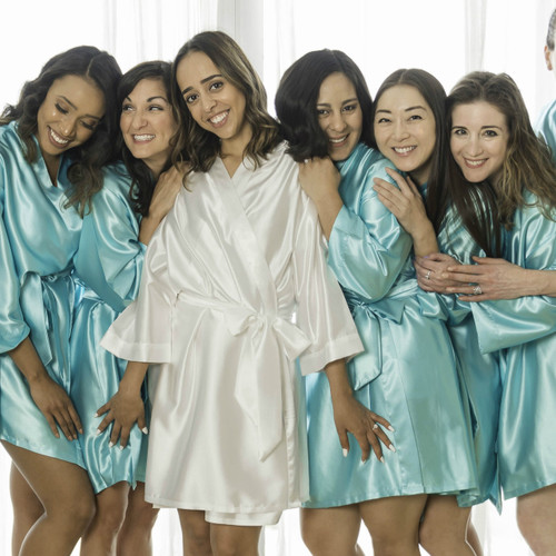 Bridesmaid Bridal Party Satin Robes