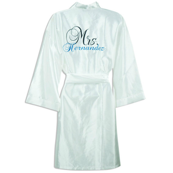 Bridal Robes with Name - MyWedStyle.com 8aa9db745