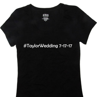 Hashtag Wedding T-Shirt