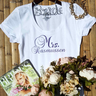 Personalized Mrs T-Shirt