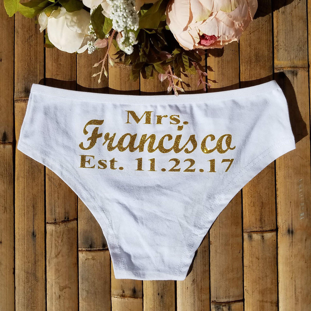 068340f59fd264 Personalized Mrs with Date Boyshorts - MyWedStyle.com